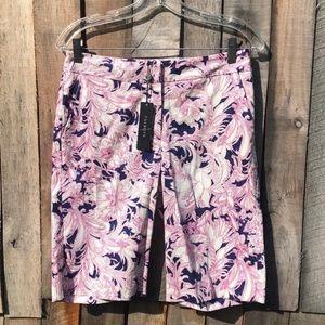 NWT Talbots Pink Floral Bermuda Shorts